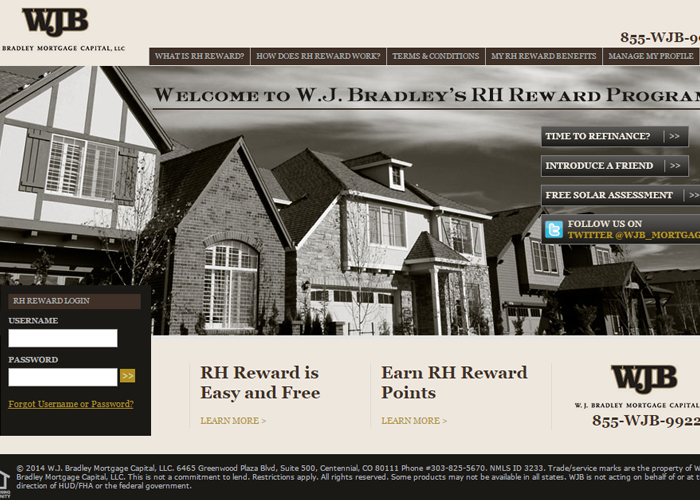 W.J. Bradley RH Rewards